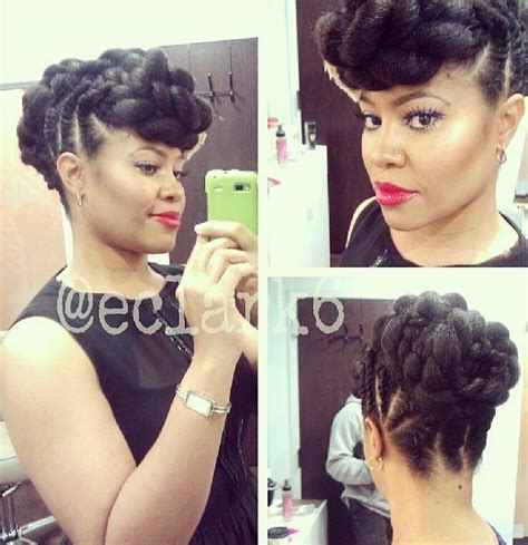 updos using marley hair updo marley braid black hairstyles pinterest