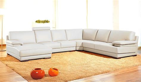 Contemporary Leather Sectional Sofa Divani Casa 2227 Modern Leather Sectional Sofa Divani Casa Collections