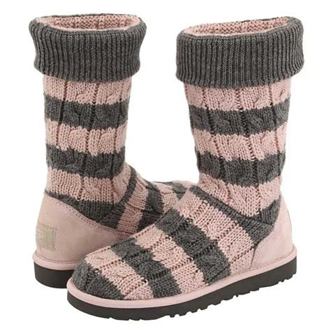 knit gray uggs grey ugg knit boots