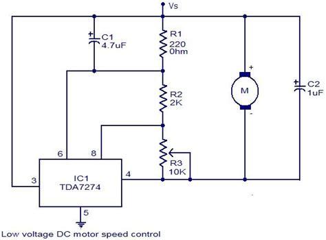 low voltage dc motor speed circuit using tda7274