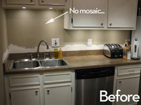 small condo kitchen makeover s major mosaic kitchen makeover curbly