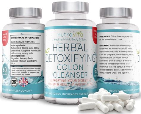 Herbal Detox Cleanse Uk by Nutravita Herbal Detoxifying Colon Cleanser
