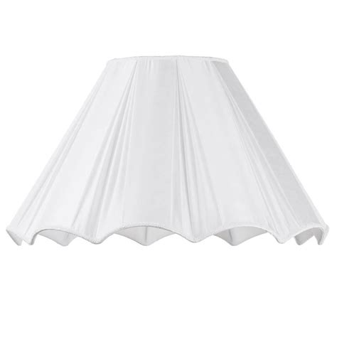 22 inch l shade 22 inch scallop easy to fit shade cream from litecraft