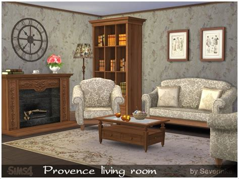 4 living room set the sims 4 custom content provence living room set