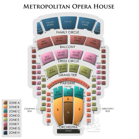 Opera House Seating Plan Metropolitan Opera House Seating Chart Seats
