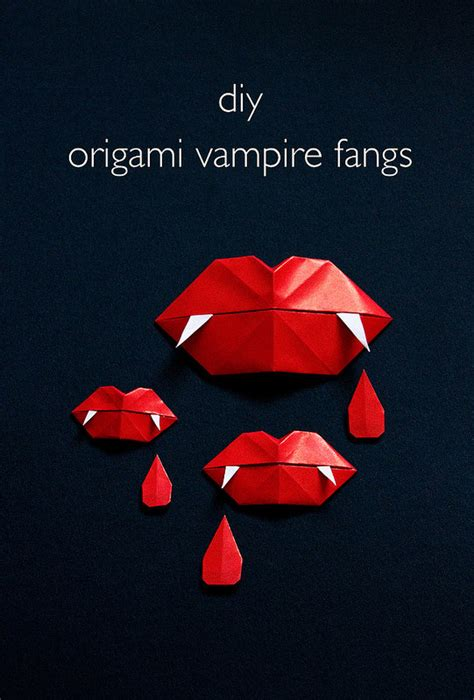 How To Make Vire Fangs With Paper - how to fang origami make