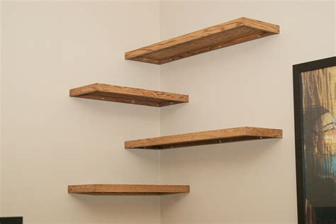 wood corner shelves diy wood floating corner wall shelf for spacesaver small bedroom or living room spaces ideas