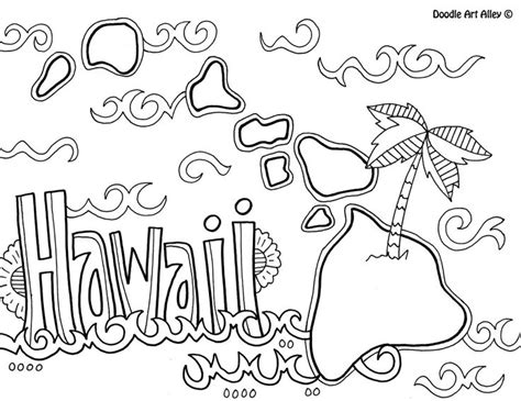 Hawaii Coloring Page By Doodle Alley Coloring Pages