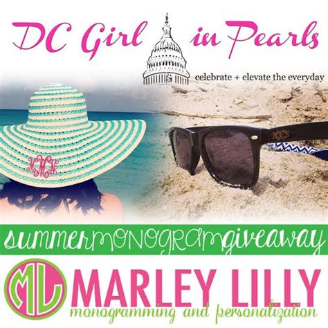 Monogram Giveaway - marley lilly summer monogram giveaway dc girl in pearls