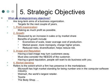 bm 1 3 organizational objectives