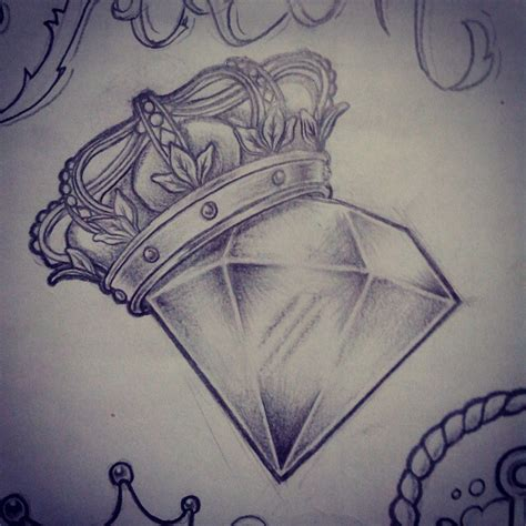 tattoo diamond drawing you re the king and i m the diamond cool tattoos