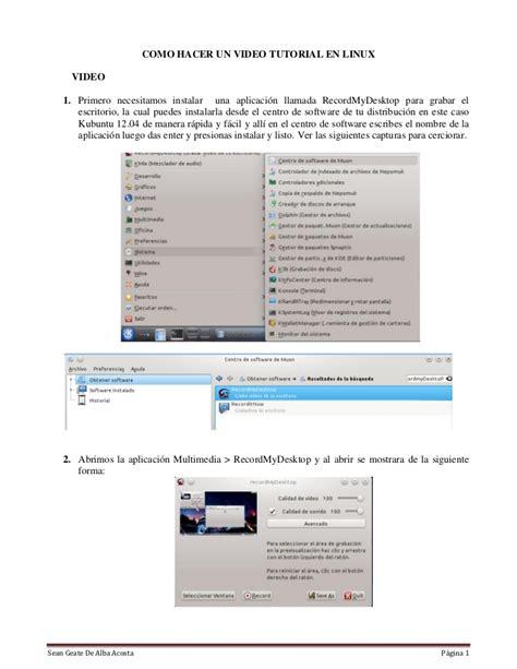 linux tutorial videos como hacer un video tutorial en linux