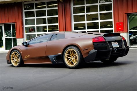 Brown Lamborghini Matte Brown Lamborghini Murcielago Sv By Cats Exotics