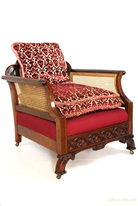 antique upholstered armchairs antique mahogany upholstered bergere cane armchair