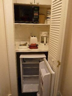 coffee maker in bedroom for a guest room turn half of the closet into a hotel