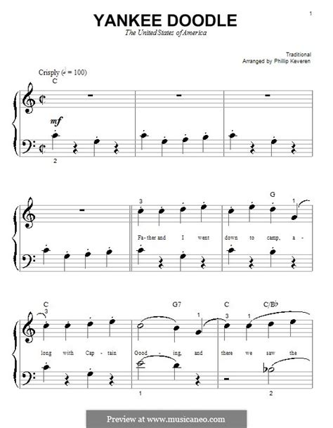 free yankee doodle sheet for clarinet yankee doodle by folklore free on musicaneo