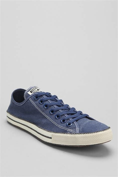 Sepatu Converse Low Navy Sneakers Original Premium 3 Warna Size 37 43 converse chuck all chuckout lowtop washed mens
