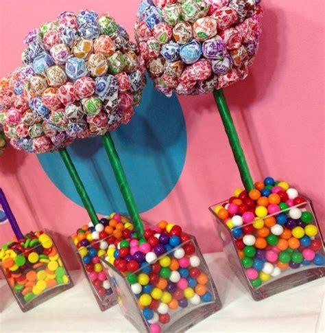 rainbow dum dum gum land centerpiece topiary