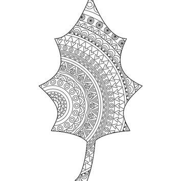leaf mandala coloring page leaf coloring page adult coloring book from hedehede home