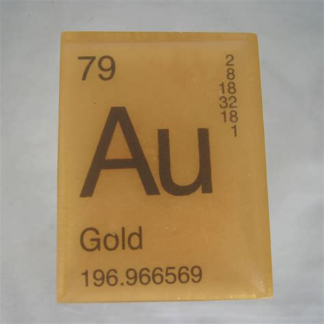 Periodic Table Gold by In Your Element Periodic Table Soap Gold Vegan