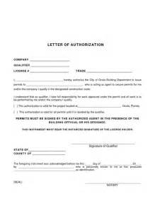 Authorization Letter Allowing Someone permit authorization letter sample authorization letter to process
