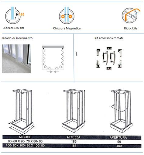 altezza cabina doccia cabina doccia tre lati ad apertura totale e chiusura