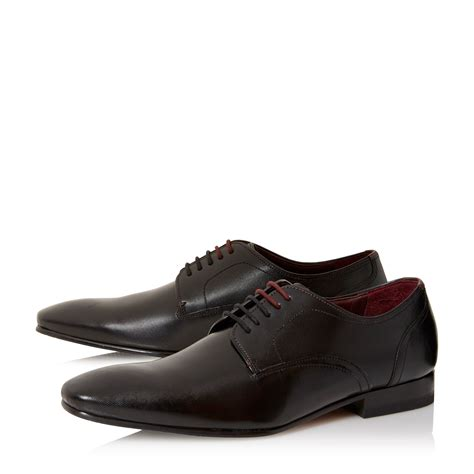 embossed leather shoes ted baker markuss embossed leather derby shoes in black for