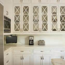 Glass Panels For Kitchen Cabinets Glass Front Upper Cabinets Design Decor Photos