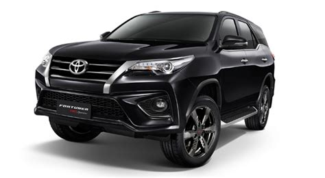 Fortuner K8107g B Black Gold Silver specification fortuner toyota motor thailand