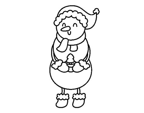 Tree And Snowman Coloring Pages Snowman With A Little Tree Coloring Page Coloringcrew Com by Tree And Snowman Coloring Pages