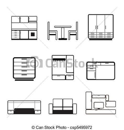 mobilia arredamenti illustrazioni vettoriali di mobilia arredamento icone