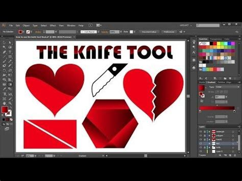 illustrator tutorial knife the o jays knives and shape on pinterest