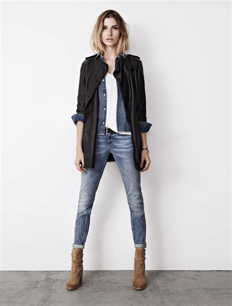 jean dress with boots how to wear denim and boots wardrobelooks