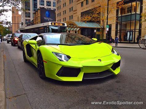 Lamborghini Chicago Lamborghini Aventador Spotted In Chicago Illinois On 10