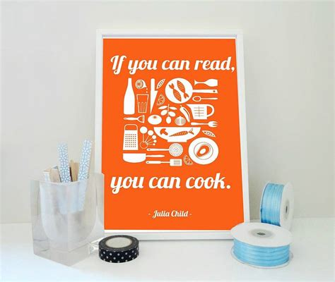 quot if you can read if you can read you can cook quote print by sacred