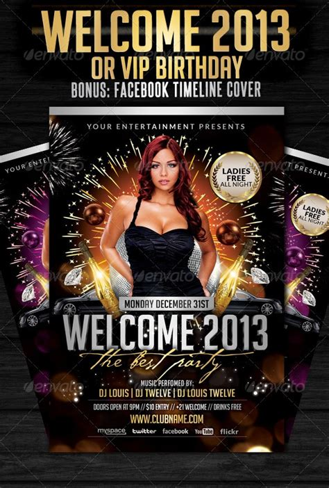 30 Best New Year Flyers Of 2013 56pixels Com Welcome Flyer Template
