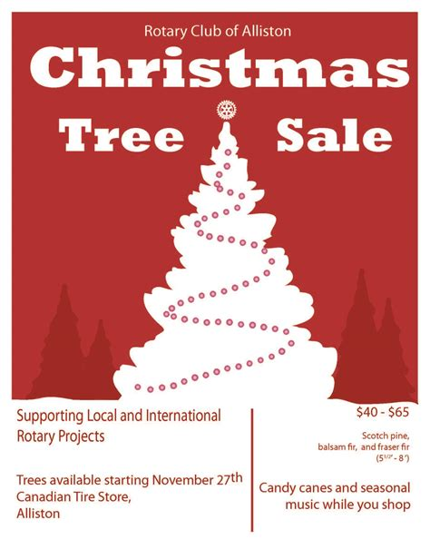 christmas tree sales 2014 rotary club of alliston