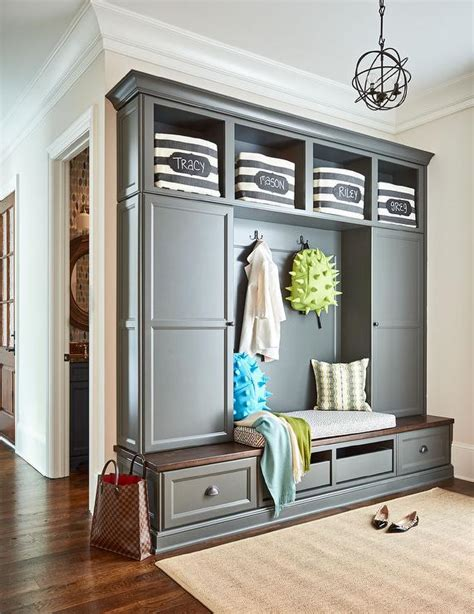 kitchen entryway charcoal gray cabinets design ideas