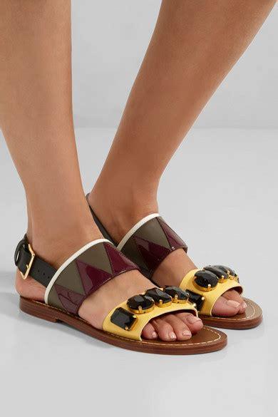 marni sandal marni embellished leather sandals net a porter