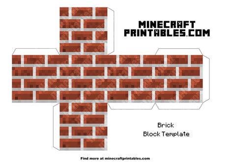 Minecraft Printable Papercraft - brick block minecraft brick block printable papercraft