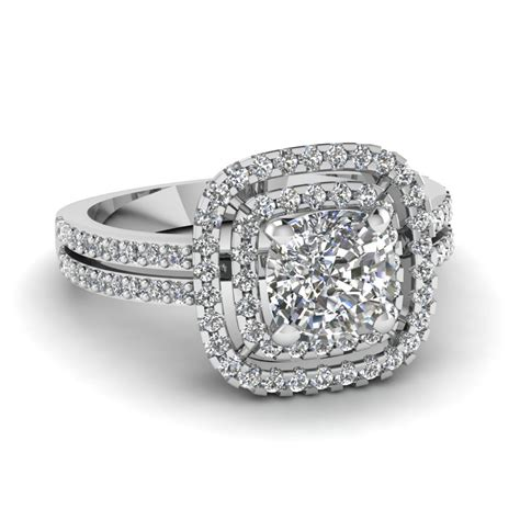 7 Engagement Rings From Since1910 by Cushion Cut Square Halo Engagement Ring In