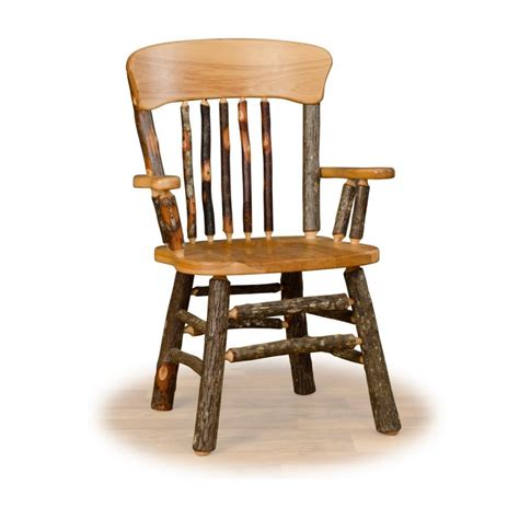 Log Dining Chairs Set Of Two Panel Back Rustic Hickory Log Dining Chairs With Arms