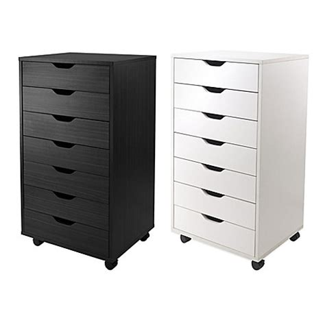 bed bath and beyond drawers winsome trading halifax 7 drawer storage cabinet bed
