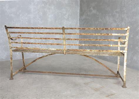 antique iron benches outdoor antique iron strapwork outdoor garden benches