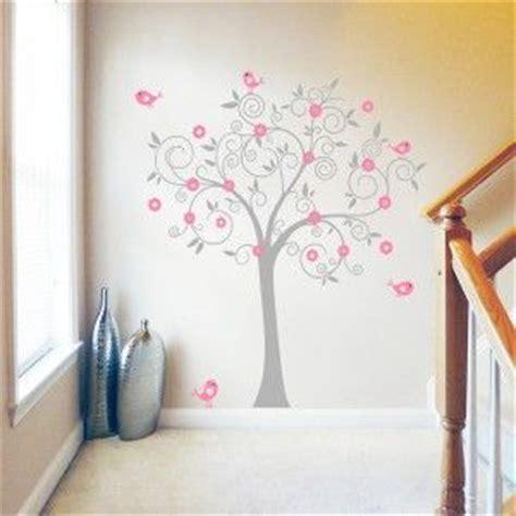 Kid Wall Murals muursticker grijs roze boom muurstickers decoratie