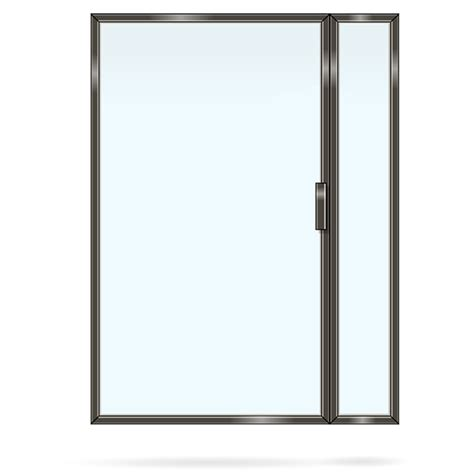 kitchen minimalist transparent glass kitchen wall door design with simple clear glass in a blue s framed