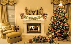 christmas livingroom christmas tree in the living room near the fireplace