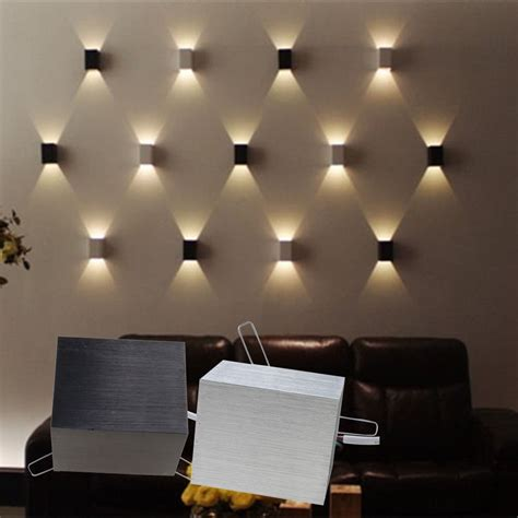 home wall lighting design 3w led square wall l hall porch walkway bedroom livingroom home fixture light walkways