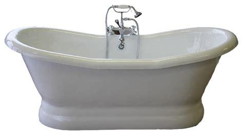 a table restoria empress 68 quot slipper pedestal white tub bathtubs