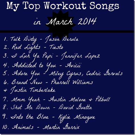 best workout songs my top workout songs in march 2014 kumpf